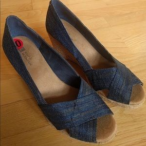 Worn 1x White Mountain Espadrilles Blue Size 10